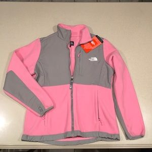 The North Face Denali Pink & Gray Jacket NWT